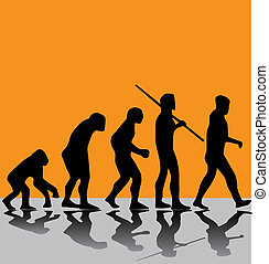 evolution - artistic evolution illustration