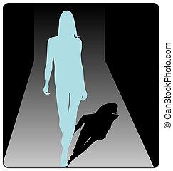 fashion show - artistic fashion show illustration