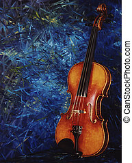 Strad Copy - Artistic Faux composition of my dads old fiddle...