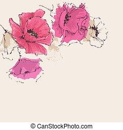 Artistic floral background
