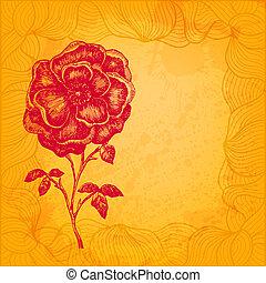 Artistic floral vector illustration