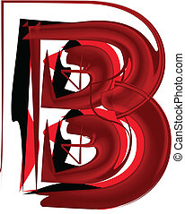Artistic font letter B