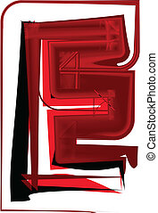 Artistic font letter E