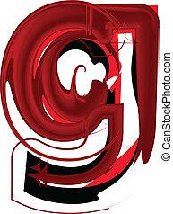 Artistic font letter g