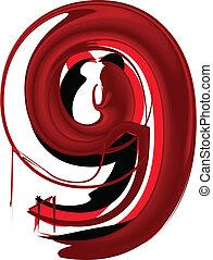 Artistic font number 9