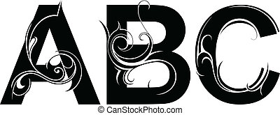 Artistic font type