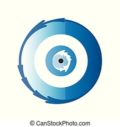 artistic greek blue evil eye vector illustration