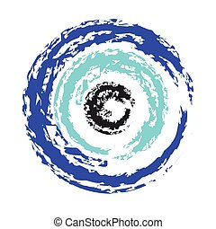artistic greek blue evil eye vector - symbol of protection