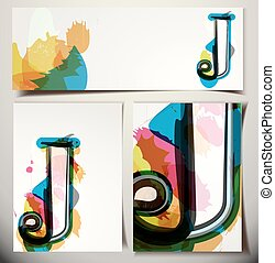 Artistic Greeting Card Letter J - Artistic Greeting Card...