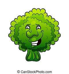 Artistic hand drawn broccoli illustration.