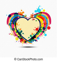 artistic heart paint design