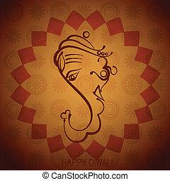 artistic indian god ganesh illustration