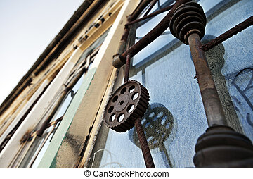 Artistic Industrial Window Bars