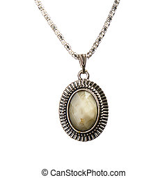 necklace with pendant - artistic jewelry necklace with...