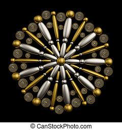 Artistic jewelry ornament design