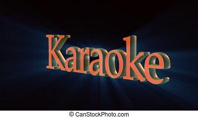 artistic karaoke  - karaoke word rotating in 3d