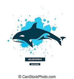 Artistic killer whale