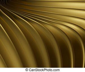 Artistic metallic design