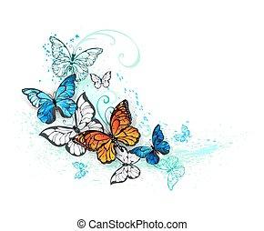Artistic Morpho and monarchs