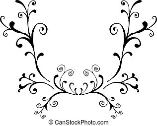 Artistic ornament - Hand drawn design