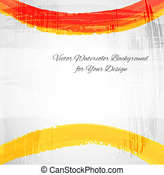 Artistic paint vector card