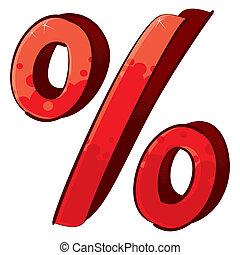 Artistic percent sign