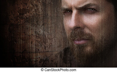 Artistic portrait of cool man with nice eyes - Artistic...