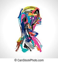 artistic portrait of lady