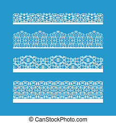 Seamless Vector Decorative Vintage Borders - Artistic...