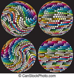 Artistic spheres with dots