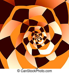 Artistic Spiral. Abstract Art.