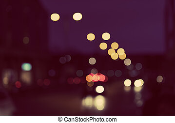 Artistic style - Defocused, blurred urban abstract traffic background