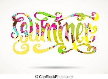 Artistic summer lettering