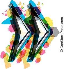 Artistic Symbol vector illustration