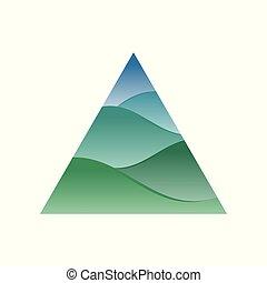 Artistic Triangle Hills Symbol Logo Design