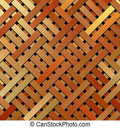 Artistic virtual geometric pattern woven mat or rattan texture abstract.