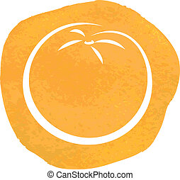 sketch of orange