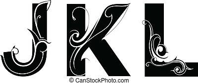 artistiek, lettertype, type