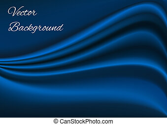 artistique, tissu bleu, texture, vecteur, fond