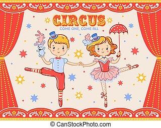 artists., circo, due, manifesto, vendemmia