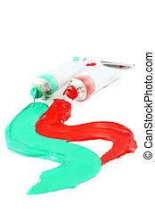 Artist's colorful paints