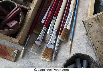Artist's Paint Brushes