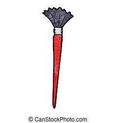 artist's, spazzola, cartone animato