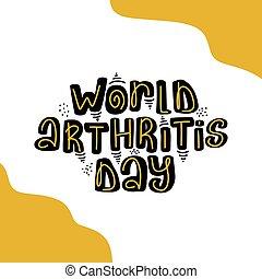 artrite, cartão, convite, modelo, day., cartão postal, mundo