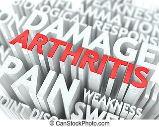 artrite, concept.