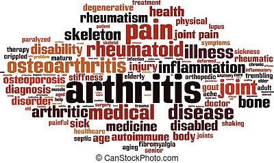 artrite, palavra, nuvem