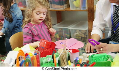 Arts and Crafts at Nursery - Nursery students doing arts and...
