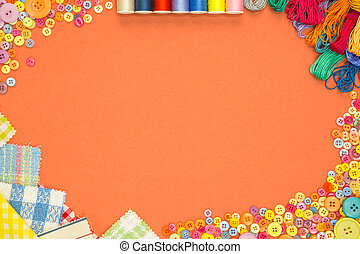 Arts and Crafts background with copy space