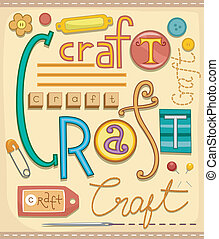 Arts and Crafts - Illustration of Various Materials used for...