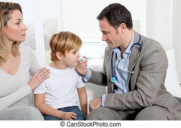 arts, boeiend, weinig; niet zo(veel), jongen, temperatuur